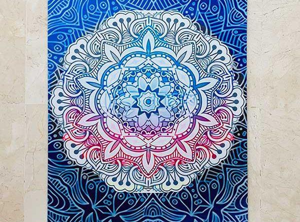 All For Yoga | Esterilla de Yoga Mandala Blue